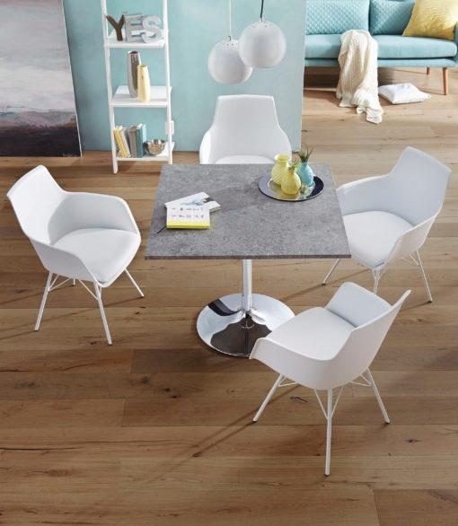 Eleganckie, wyrafinowane białe krzesła - 4 sztuki