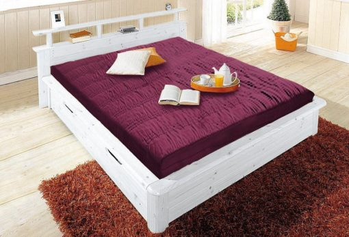 Łóżko w rustykalnym stylu, z litego drewna 160x200 cm, białe