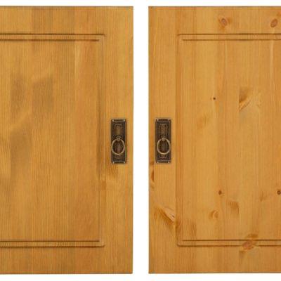 Podwójne drzwi sosnowe, olejowane, miodowe