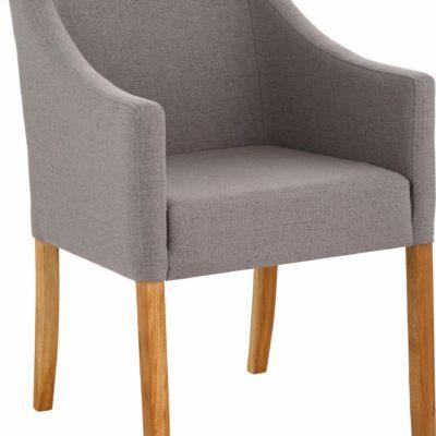 Nowoczesny, wygodny i zgrabny fotel, szary