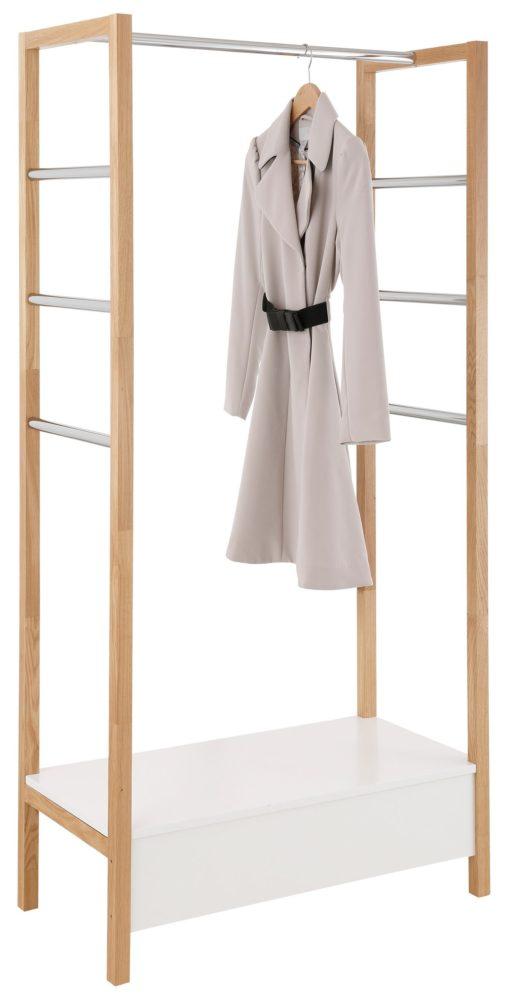 Garderoba z dębu i MDF w skandynawskim stylu