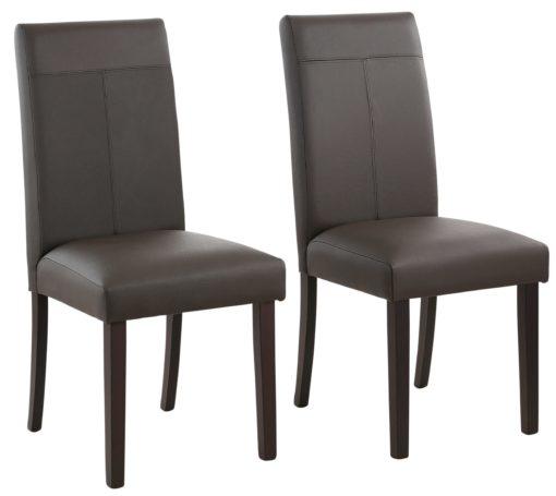 Klasyczne krzesła ze sztucznej skóry - 4 sztuki