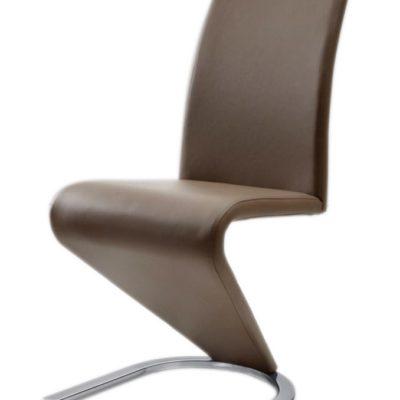 Nowoczesne krzesła ze sztucznej skóry - 6 sztuk