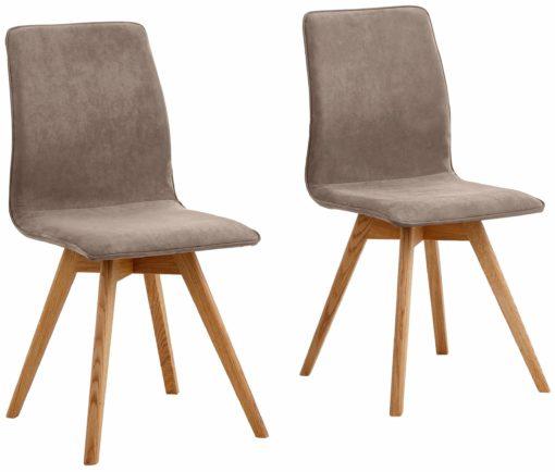 Nowoczesne krzesła, nogi dębowe typu krzyżak - 2 sztuki