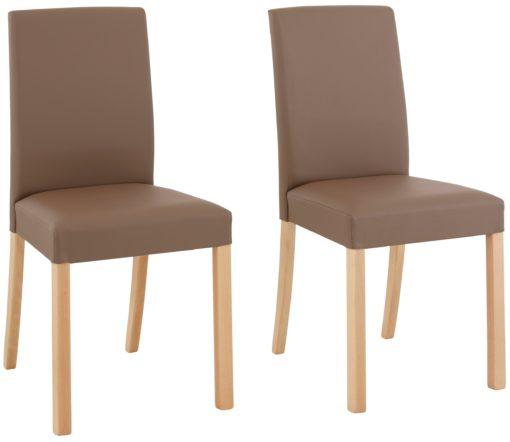 Ponadczasowo eleganckie krzesła w kolorze taupe - 4 sztuki