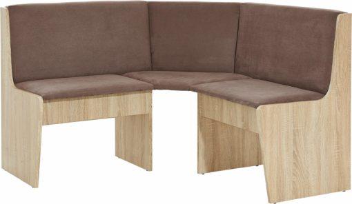 Praktyczna ławka narożna, tapicerowana, cappuccino