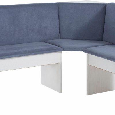 Praktyczna ławka narożna, tapicerowana, szara