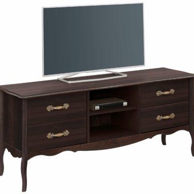 Przepiękna, kolonialna szafka pod tv w stylu ludwikowskim