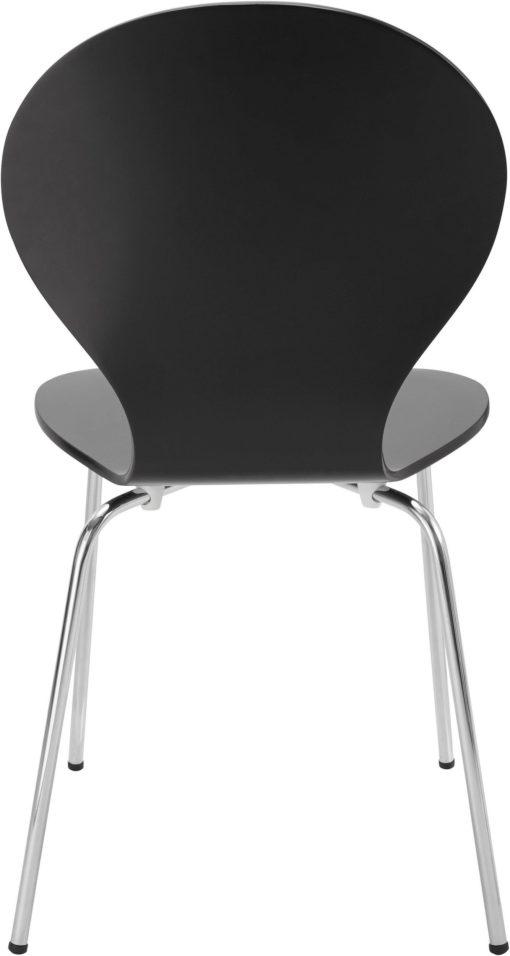 Zestaw 2 czarnych krzeseł w minimalistycznym, ponadczasowym designie