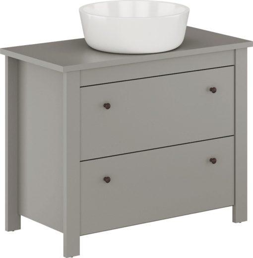 Szafka pod umywalkę szara, prosta i ponadczasowa