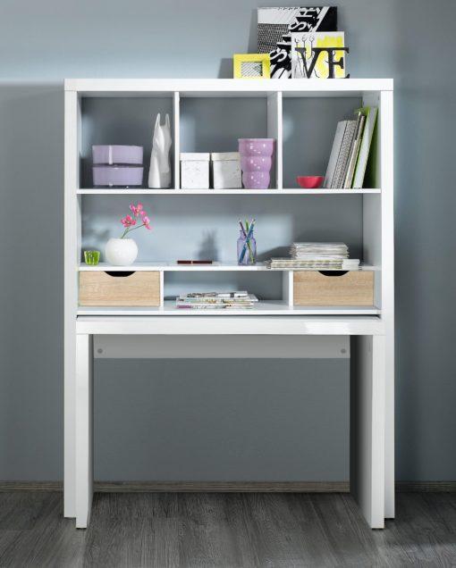Ścianka biurowa z wysuwanym biurkiem