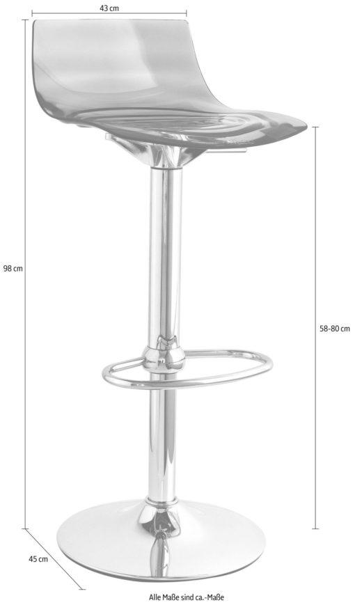 Stołek barowy we włoskim stylu, chromowana noga