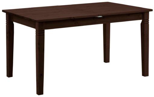 Sosnowy, rozkładany stół 140 cm, kolor kolonialny