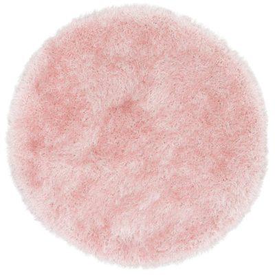 Okrągły dywan z wysokim włosiem w odcieniach różu, 120 cm