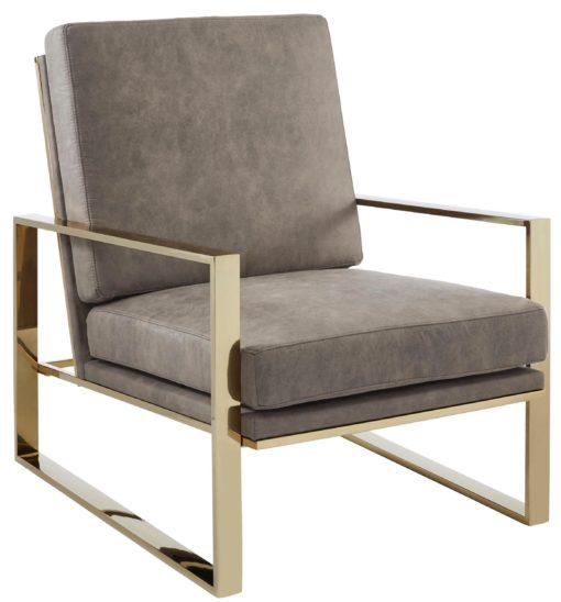 Ekstarwagancki fotel ze złotą ramą