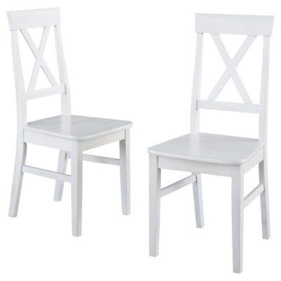 Komplet 2 klasycznych krzeseł z drewna sosnowego