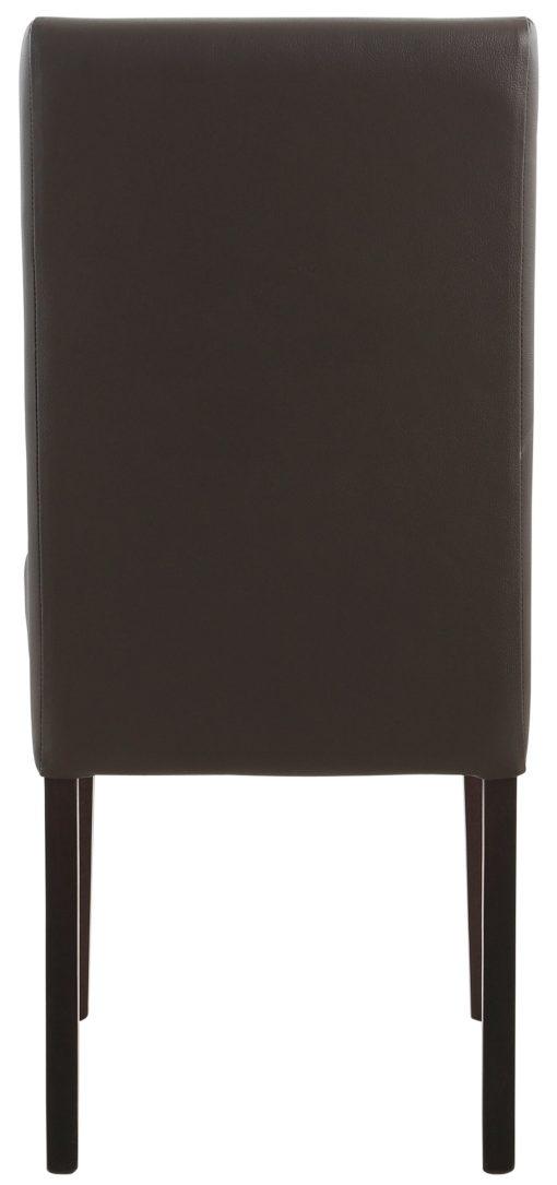 Krzesła tapicerowane sztuczną skórą, drewniana rama - 4 sztuki
