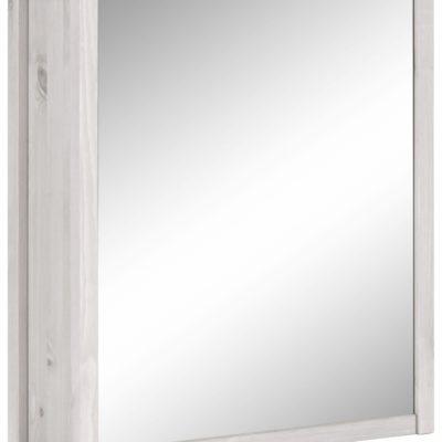 Sosnowa szafka łazienkowa z lustrzanym frontem
