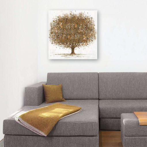 Ręcznie malowany obraz na płótnie 80x80 cm