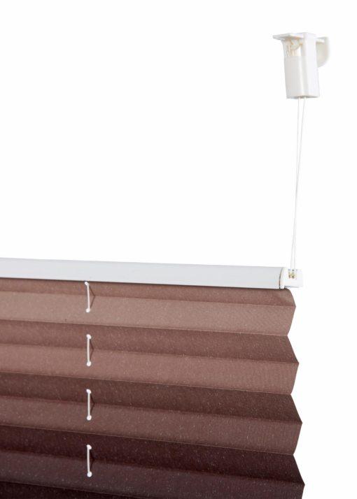 Plisowana roleta, bez wiercenia 90x130 cm