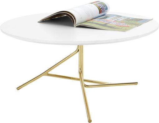 Lekki stolik kawowy ze złotą nogą