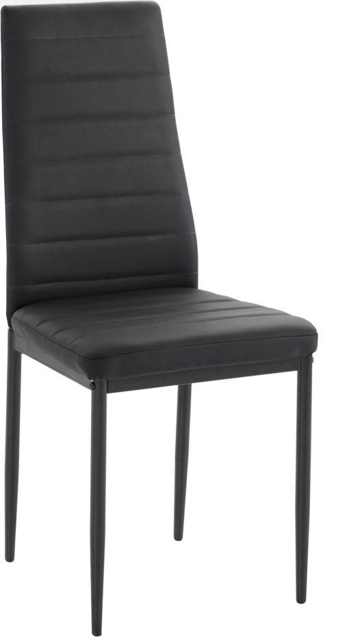 Zestaw do jadalni: szklany stół i 4 czarne krzesła