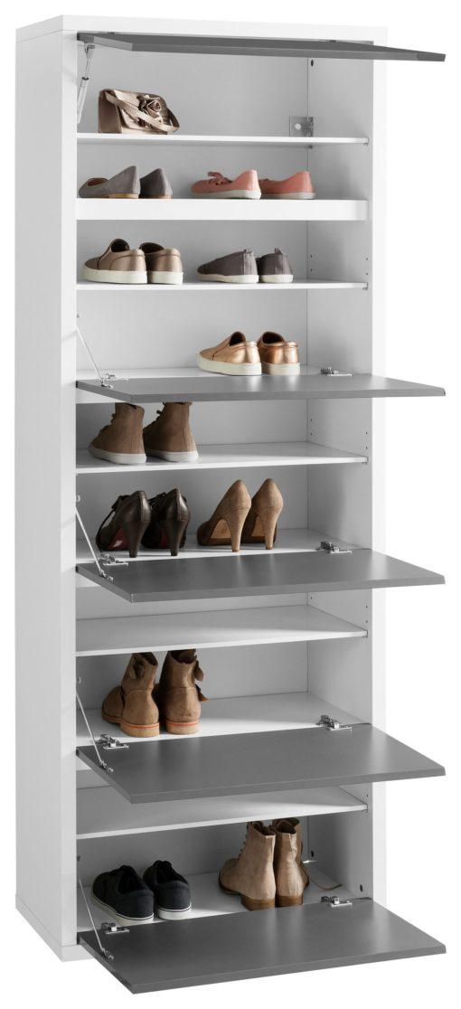 Wysoka, przestronna szafka na buty - antracytowy front