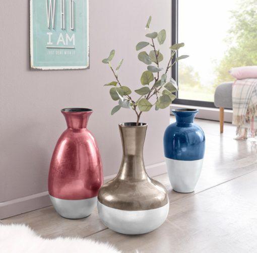 Bambusowy wazon w modnych, metalicznych kolorach