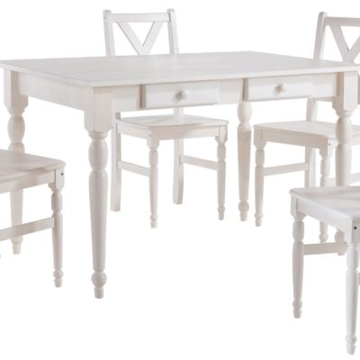 Piękny zestaw do jadalni: sosnowy stół i 4 krzesła