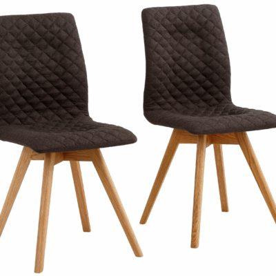 Stylowe, nowoczene krzesła z dębowymi nogami - 4 sztuki