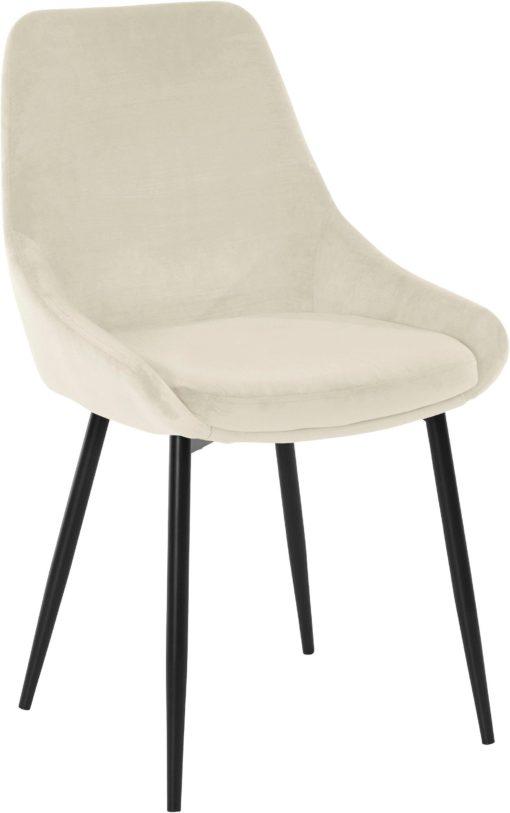 Tapicerowane, beżowe krzesła o wyrafinowanym designie - 2 sztuki