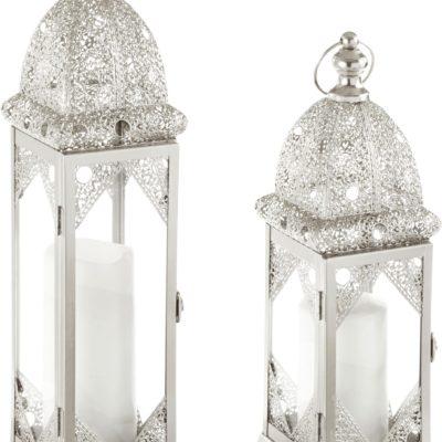 Dwa świeczniki/latarnie w stylu orientalnym