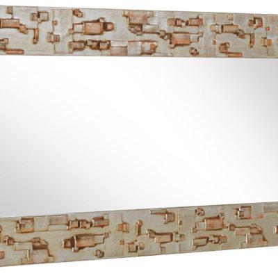 Duże lustro ścienne z bardzo dekoracyjną ramą