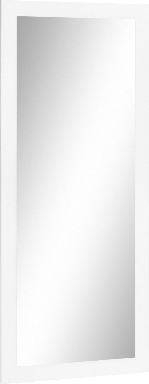 Prostokątne lustro z białą, matową ramą