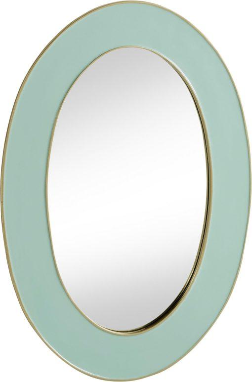 Interesujące lustro ścienne z pastelową ramą, aluminuim
