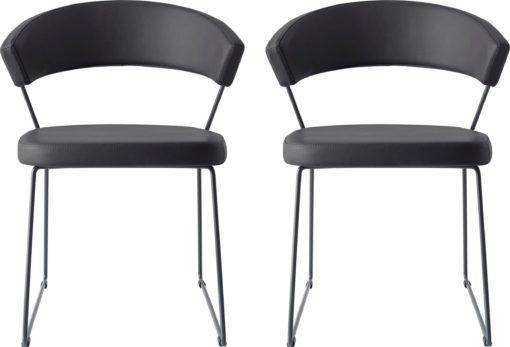 Designerskie i wygodne, ergonomiczne czarne krzesła