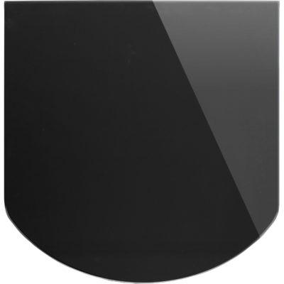 Szklana płyta do kominka, czarna, 8mm