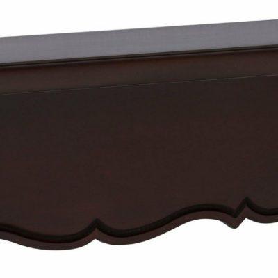 Elegancka półka w naturalnej okleinie, kolor kolonialny