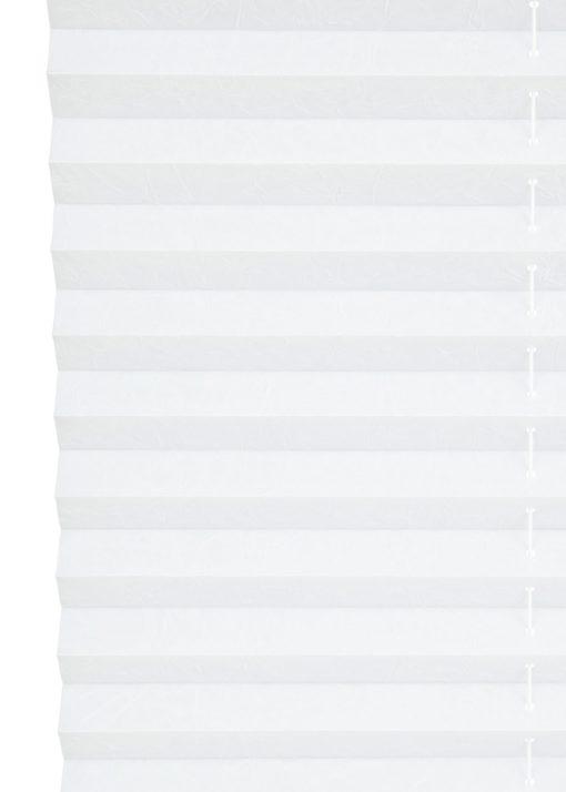 Biała, plisowana roleta, montaż bez wiercenia, 90x130 cm