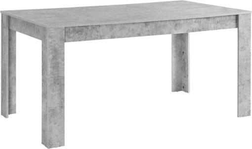 Nowoczesny zestaw do jadalni: stół w kolorze betonu i 4 szare krzesła