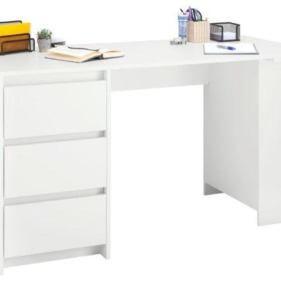 Nowoczesne biurko z szufladami w kolorze białym