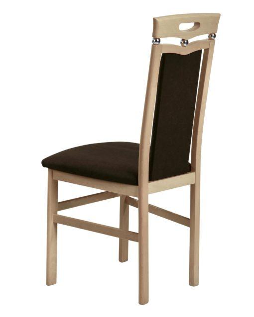 Ponadczasowe, brązowe krzesła z ozdobną kulką - 2 sztuki