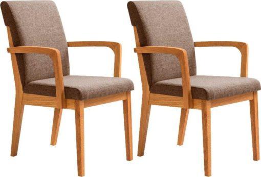 Zestaw dwóch dębowych foteli w stylu retro