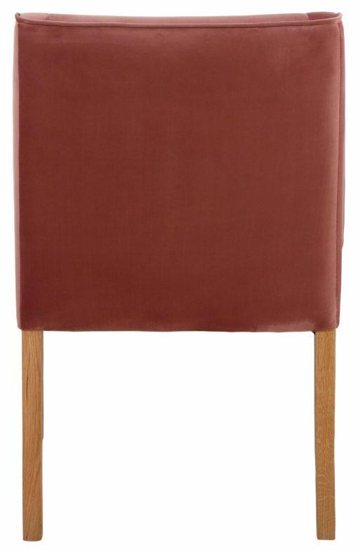 Wygodny fotel z mikrofibry w stylu lat 50-tych, czerwone wino