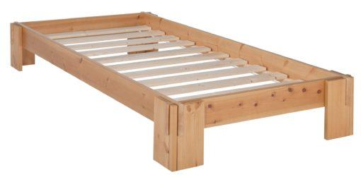 Łóżko futon 90x200 cm ze stelażem, drewno olejowane