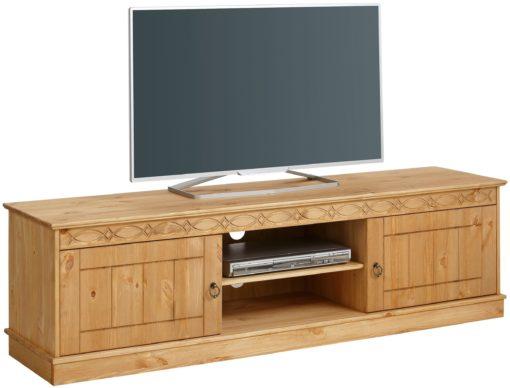 Sosnowa szafka rtv 160 cm, drewno olejowane