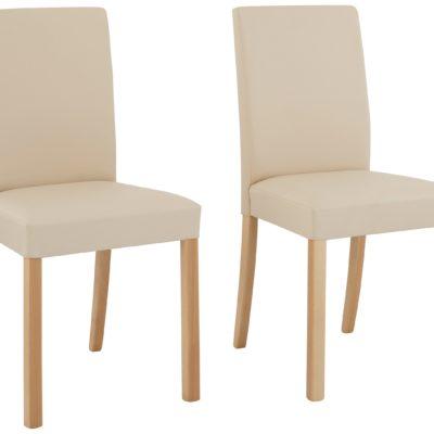 Ponadczasowo eleganckie krzesła w kolorze beżowym - 6 sztuk