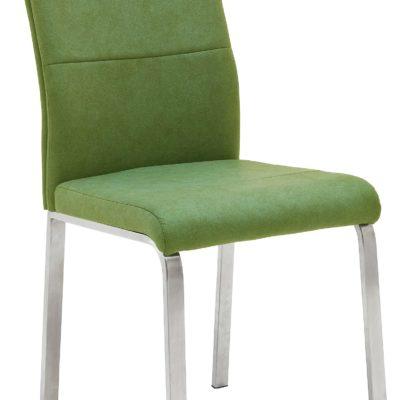 Ponadczasowe krzesła z metalową ramą, w kolorze kiwi - 2 sztuki