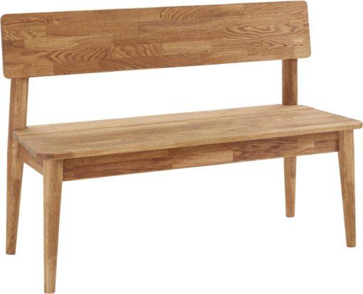 Ławka z litego drewna dębowego, w stylu skandynawskim