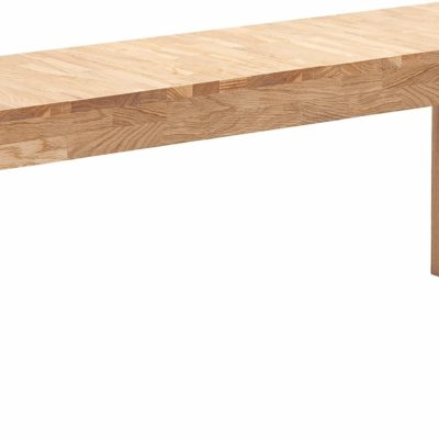 Prosta ławka z litego drewna dębowego